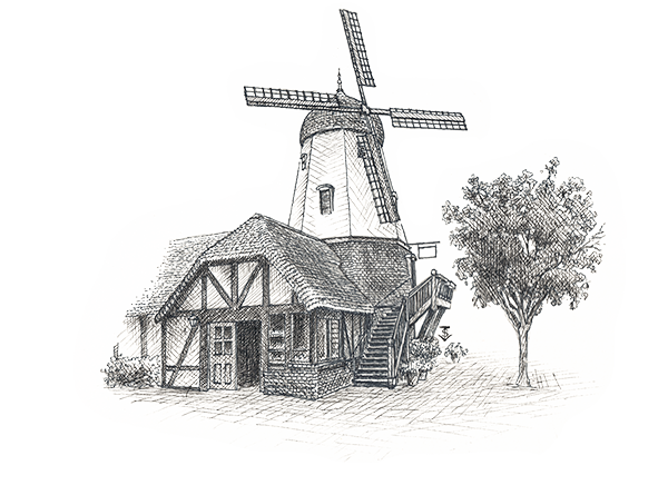 The Windmill in Solvang -- CrossHatch Tasting Room
