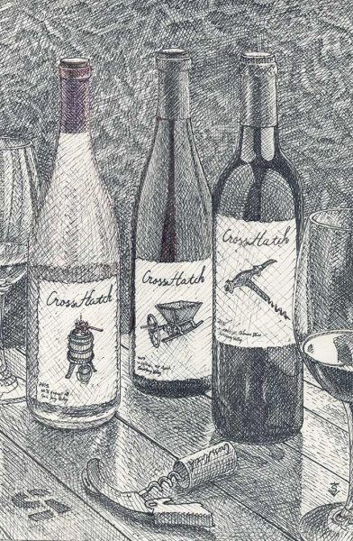 CrossHatch Winery Bottles